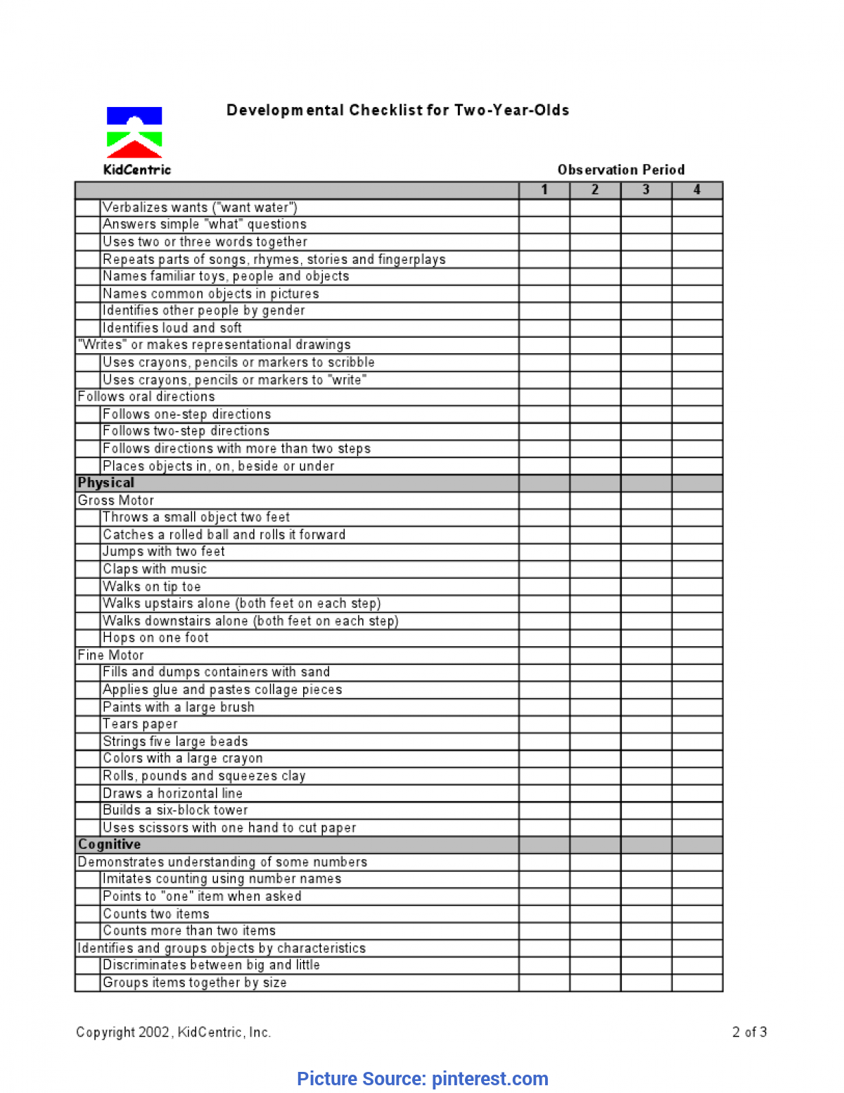 Best 2 Year Old Curriculum Assessment 2 Year Old Page 2 Of 3 €? | Pintere