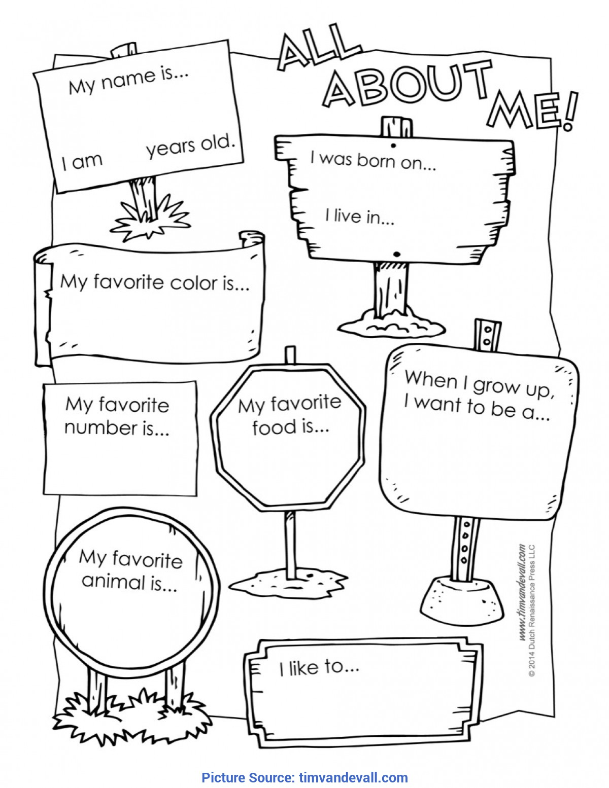 Best All About Me For Infants All About Me Worksheet Print