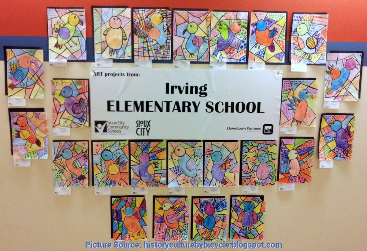 Best Art Projects Elementary School Students History And Culture By Bicycle: Irving Elementary School Art Proj