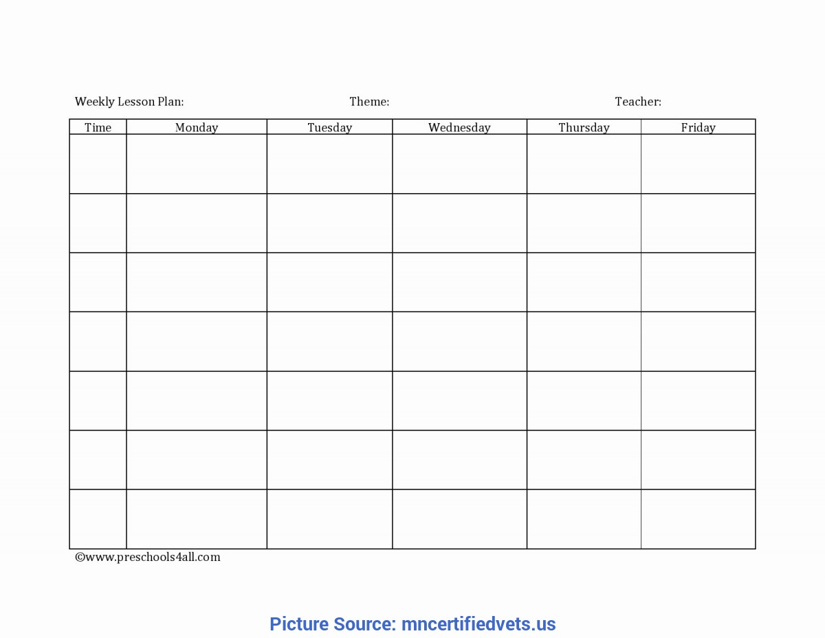 Best Blank Lesson Plan Template Free Download Editable Weekly Lesson Plan Template Awesome Weekly Lesson Pla
