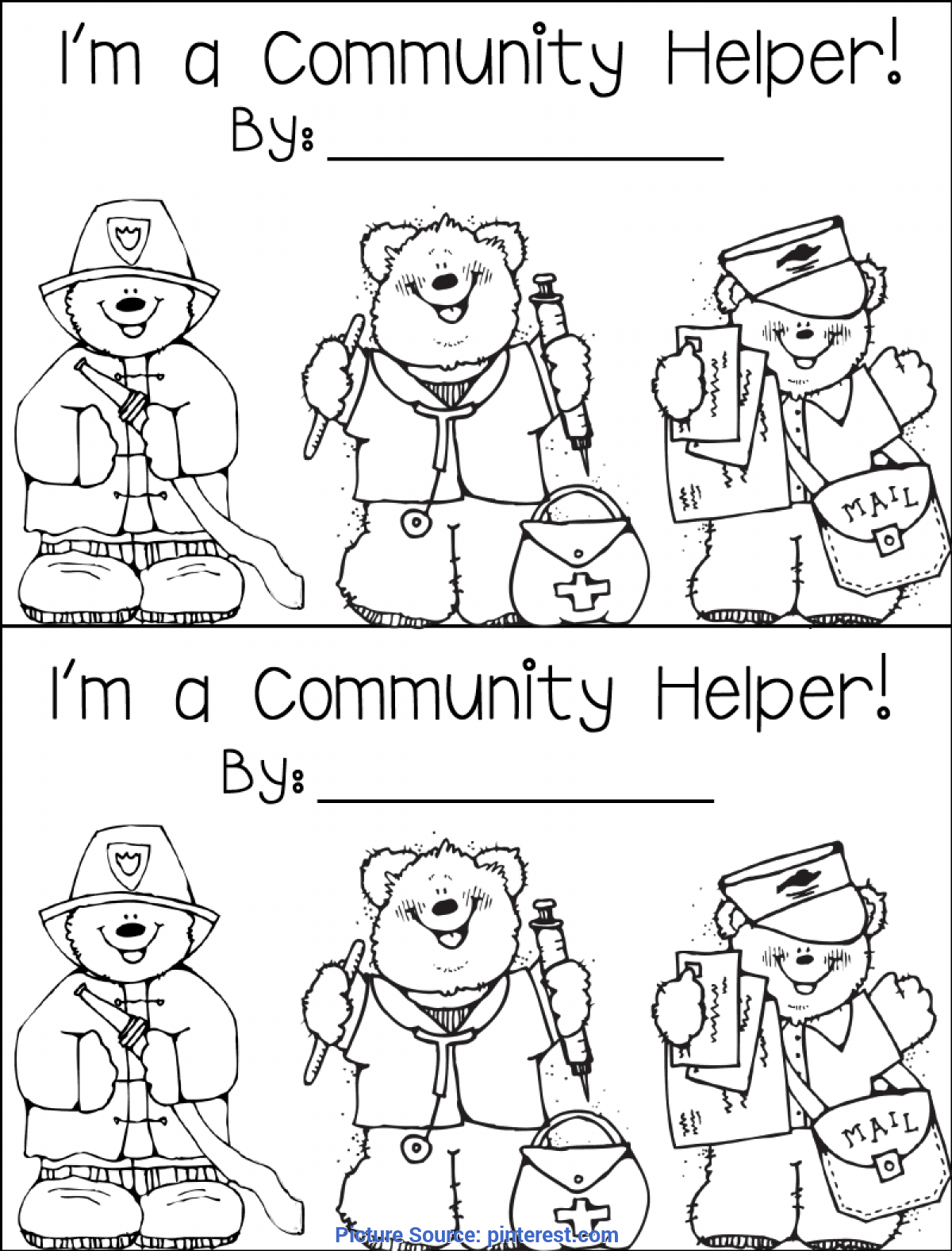 Community Helpers Coloring Pages in Spanish! by Miss P's PreK Pups | 1575x1200