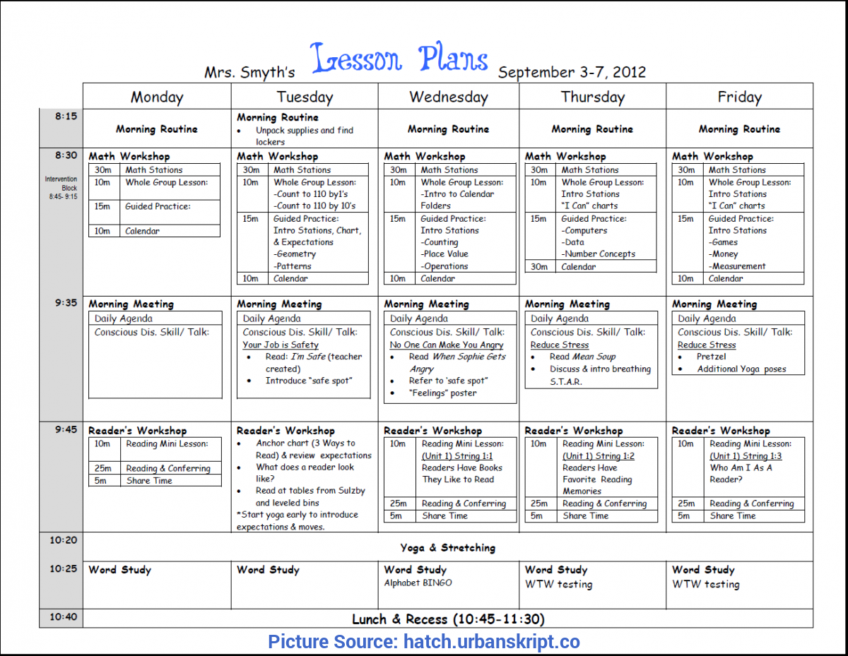 ubd lesson plan template word