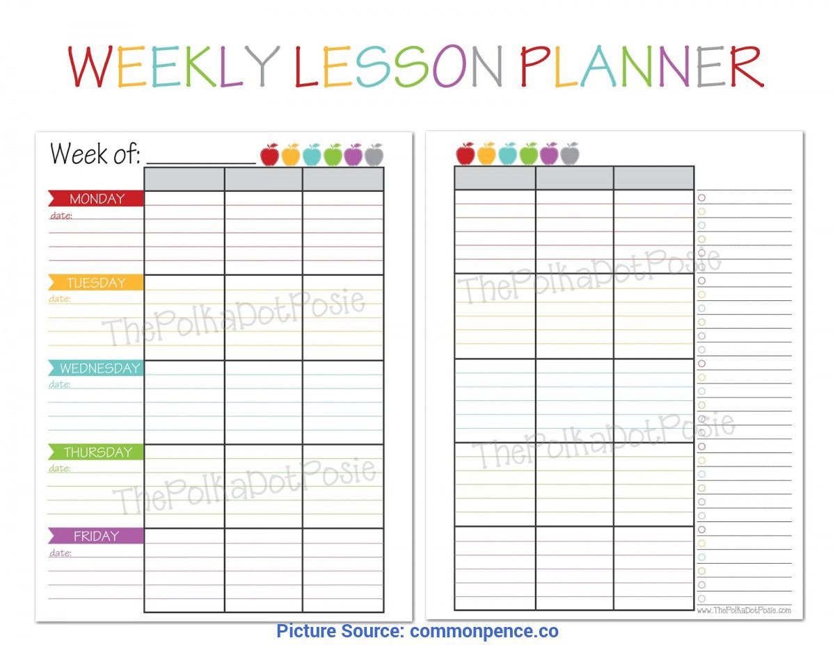 photograph regarding Printable Teacher Planner identified as Simplest No cost Printable Trainer Planner Instructor Planners