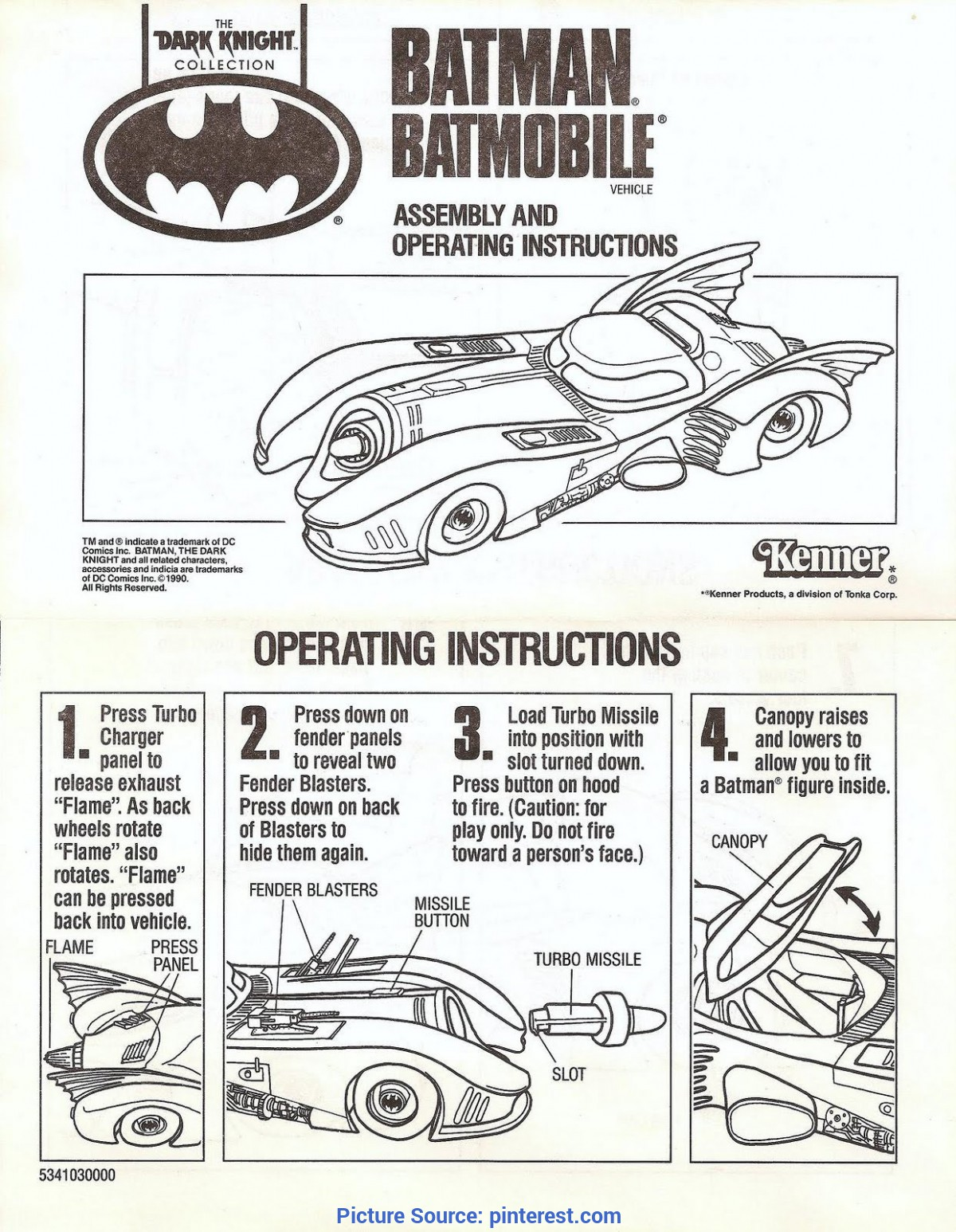 Best Good Instructions Examples Instruction Manual Example - Viewing Gallery | Batman / Batgir