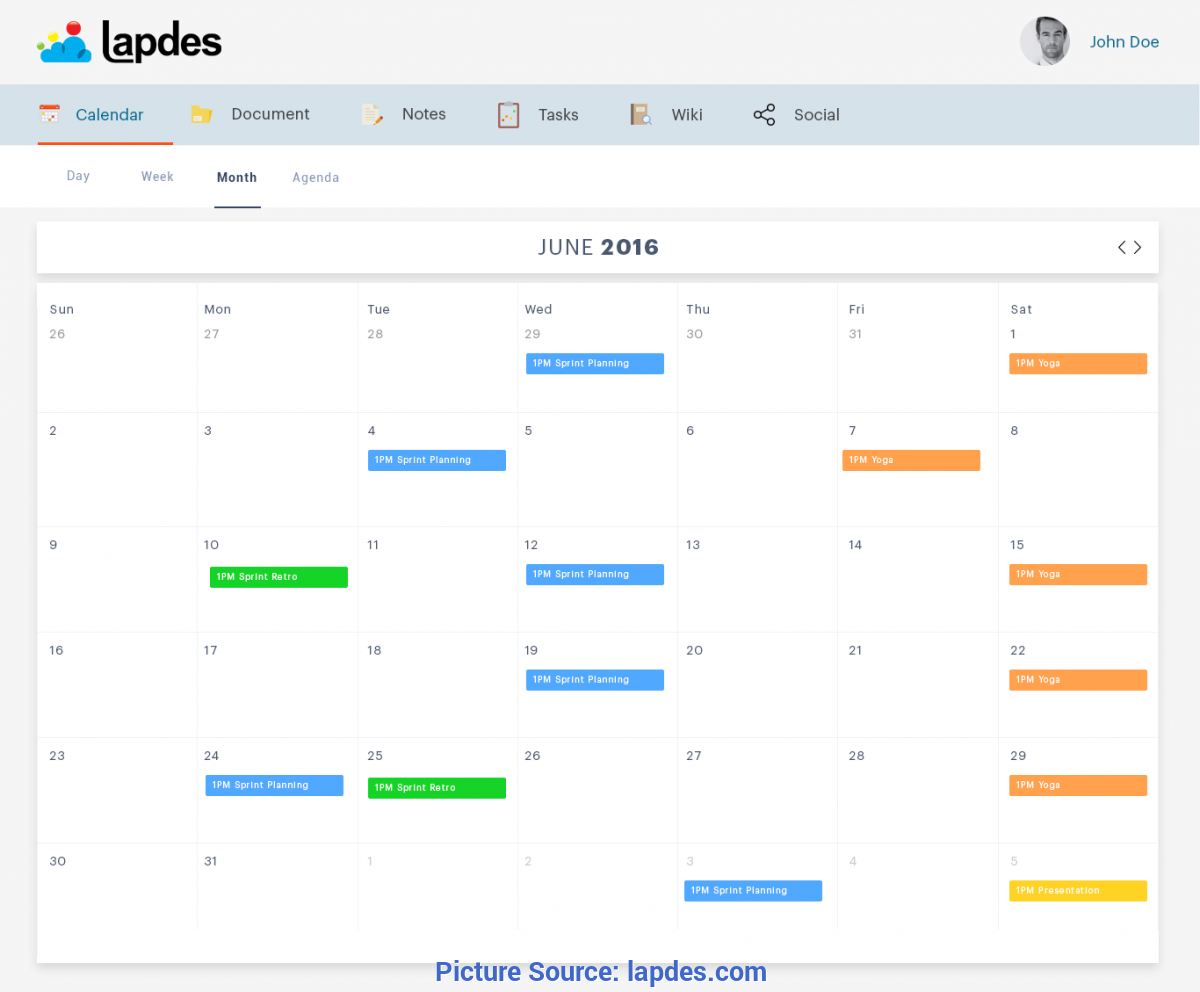 Best Online Calendar Planner Online Calendar Application | Web Calendar Planner App By Lapdes