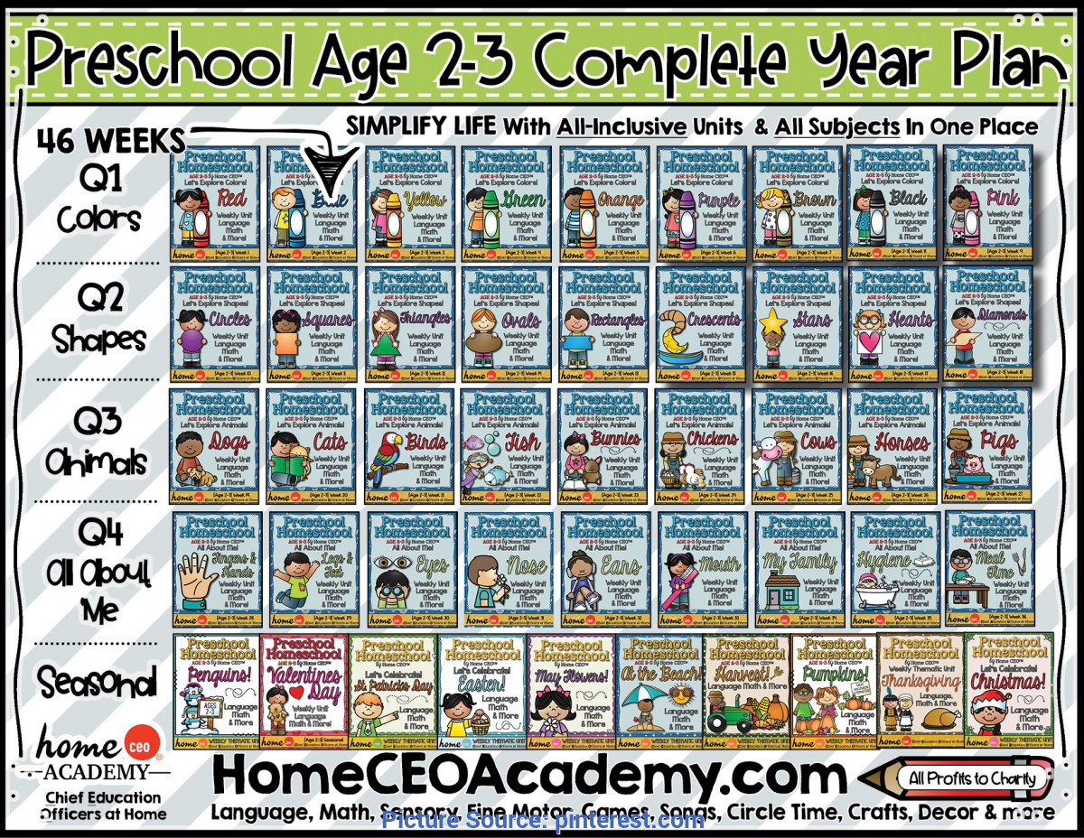 Best Preschool Lesson Plans Age 2 Complete Year Age 2-3 Preschool Totschool Plan By Home Ceo Academ