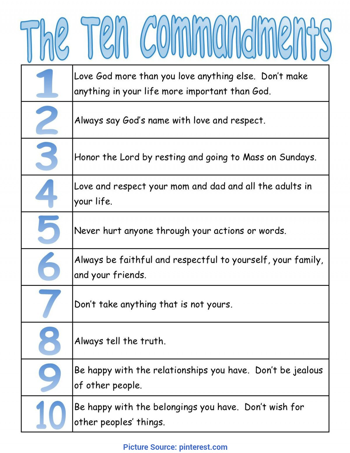 image about 10 Commandments Printable Worksheets identify Least complicated Preschool Lesson Applications For The 10 Commandments A Real