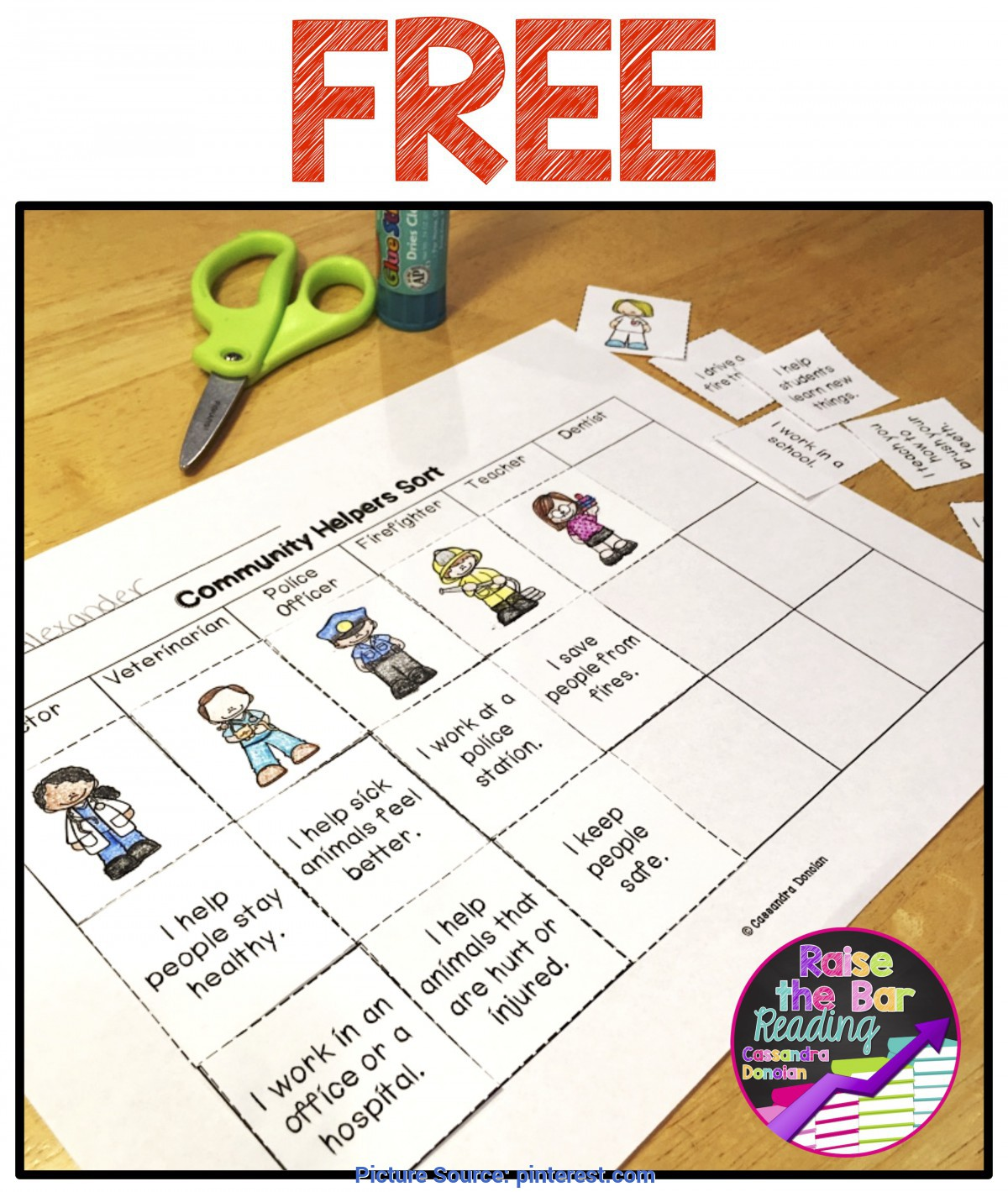 Briliant Community Helpers Lesson Plans For 2Nd Grade Free Community Helpers Sort! | Tpt Free Lessons | Pinteres