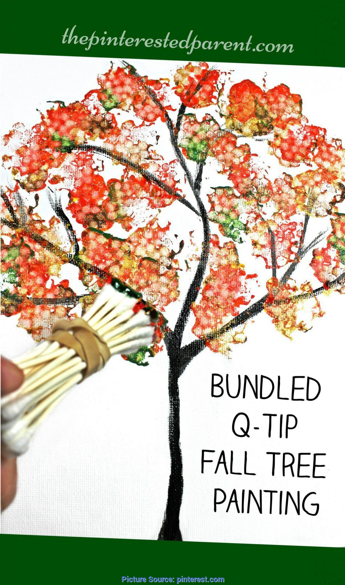 Briliant Fall Painting Ideas For Toddlers Easy Bundled Q Tip Stamped Tree Paintings For Every Season Winte Ota Tech