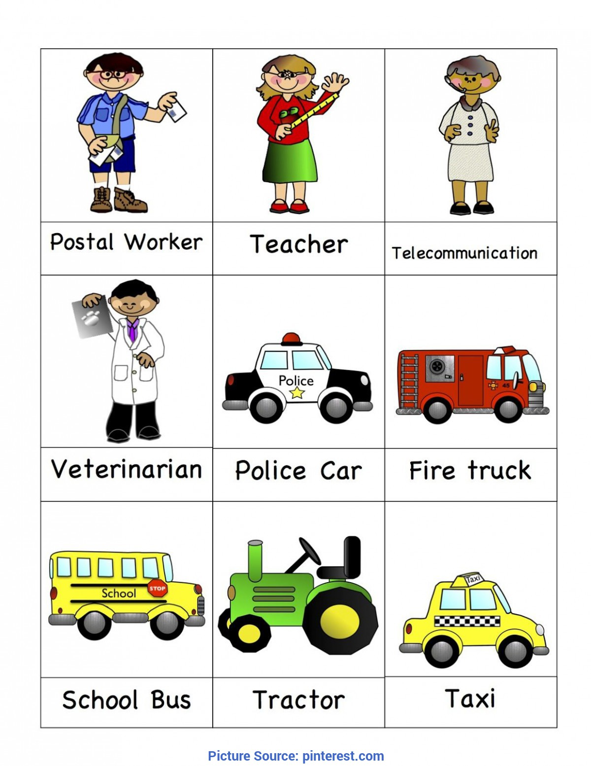 Briliant School Workers Worksheet Kindergarten Preschool ...