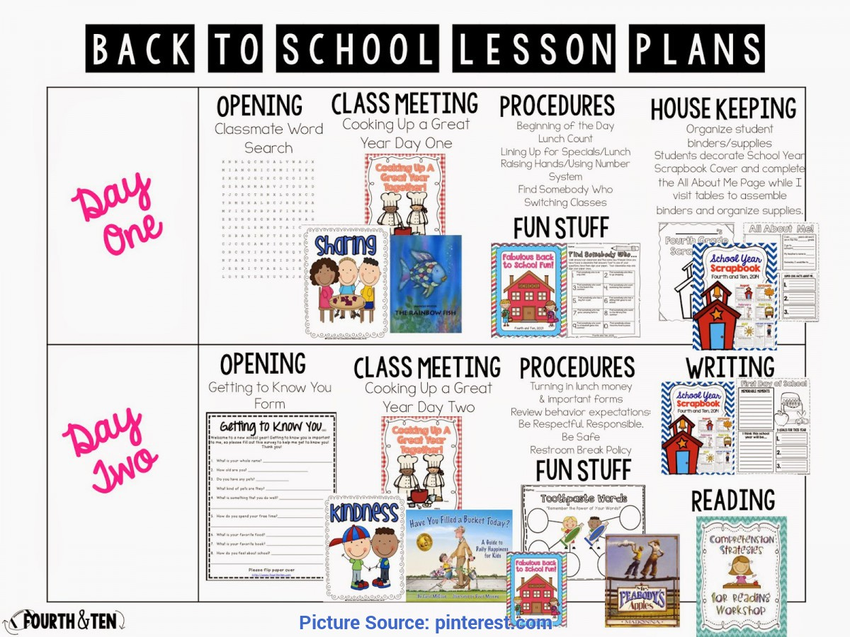 Complex 1St Grade 1St Week Lesson Plans Back To School Lesson Plans For The Intermediate Grades! | Schoo