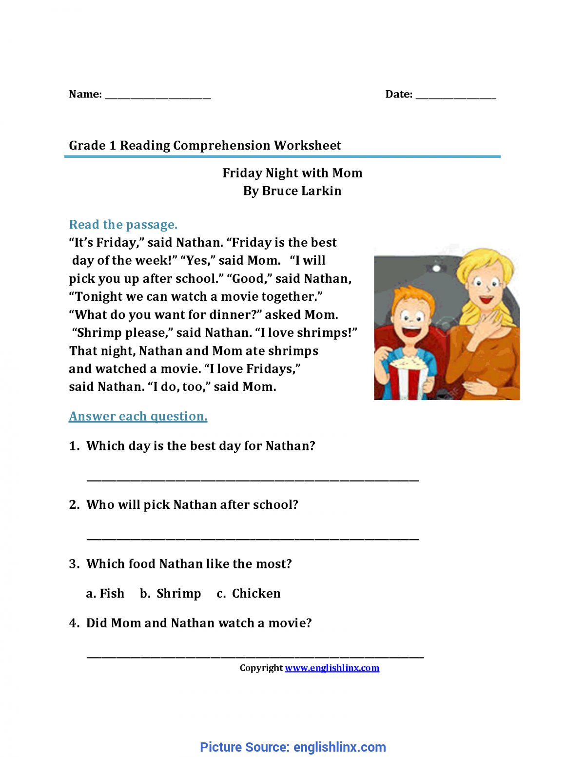 - Complex 1St Grade Reading Comprehension Reading Worksheets First