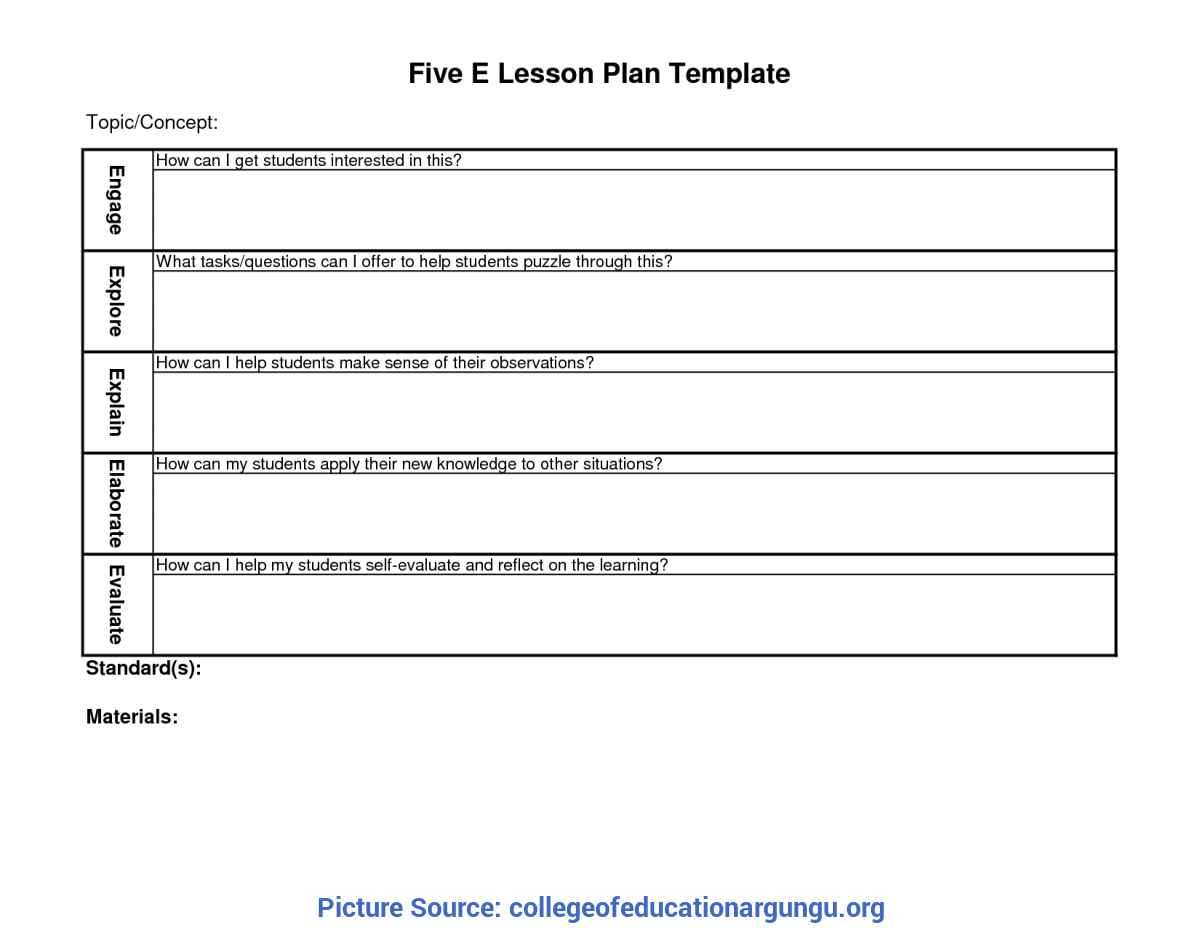 Complex 5E Lesson Plan Light 33 5 E Lesson Plan Template Science, Pinterest The Worlds Catalo