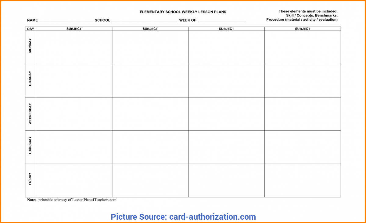 photograph relating to Free Printable Special Education Lesson Plan Templates referred to as Perfect Weekly Lesson System Template Exclusive Education and learning Pe