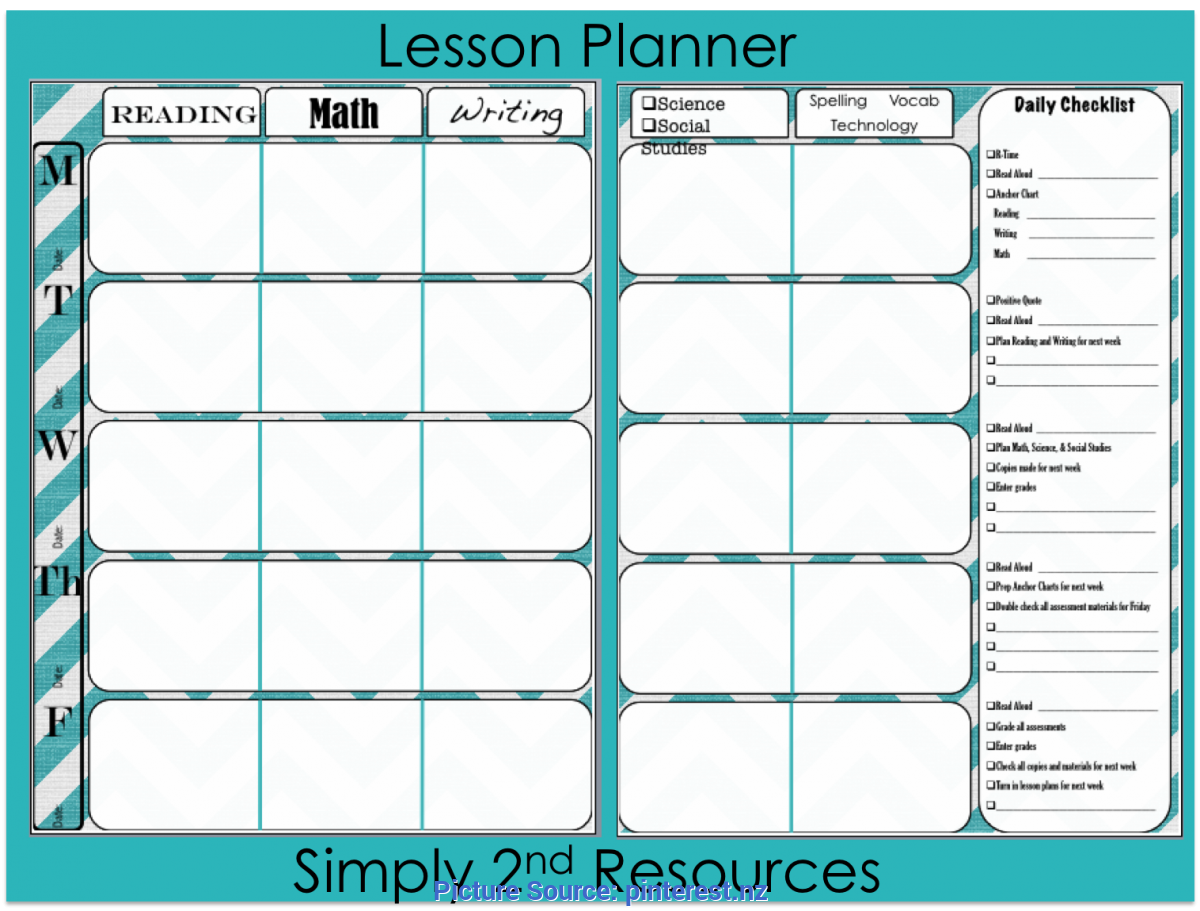 Complex Lesson Planner And Gradebook Simply 2Nd Resources: Free Lesson Plan Template | Classroo