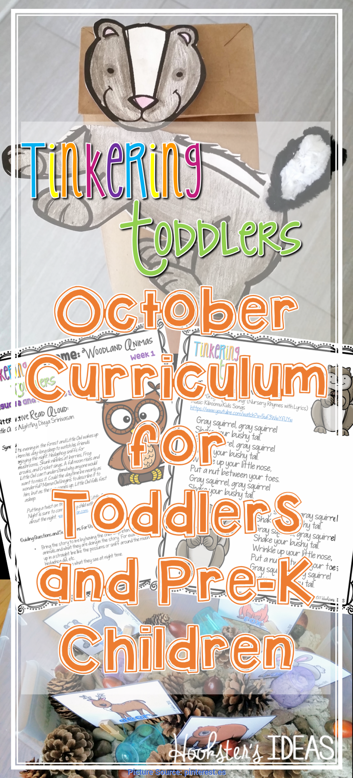 Complex October Themes For Toddlers Tinkering Toddlers October Structured Playgroup Curriculu