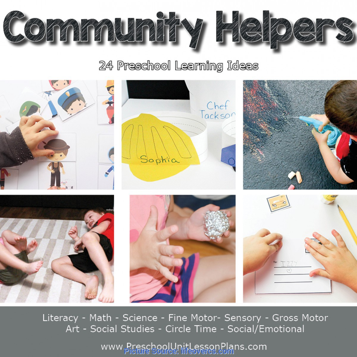 Complex Sample Lesson Plan In Community Helpers Preschool Lesson Plans Year Long Bundle - Life Ove