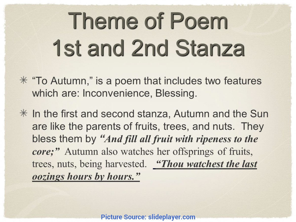 Complex Theme Of To Autumn To Autumn John Keats By Peter Moon 8E Ω. - Ppt Video Online Down