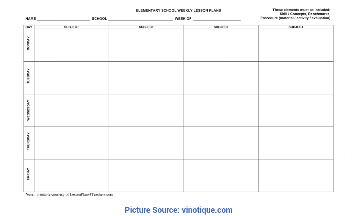 Excellent 7 Day Lesson Plan Template Best Photos Of Five Day Lesson Plan Template - Class Lesson Pla