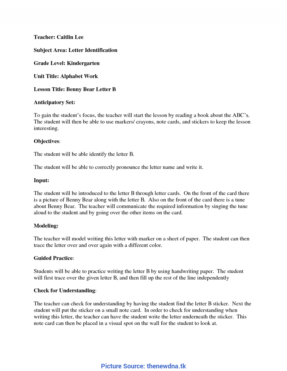 Excellent Blank Lesson Plan Template Madeline Hunter Madeline Hunter Lesson Plan Temp