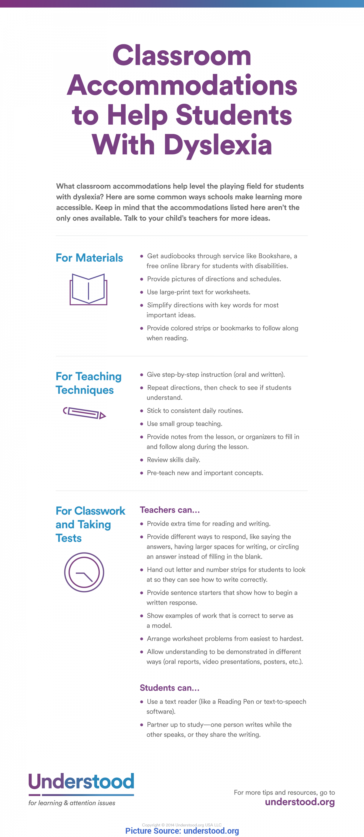 Excellent Dyslexia Lesson Plans Accommodations For Students With Dyslexia   Help In The Class