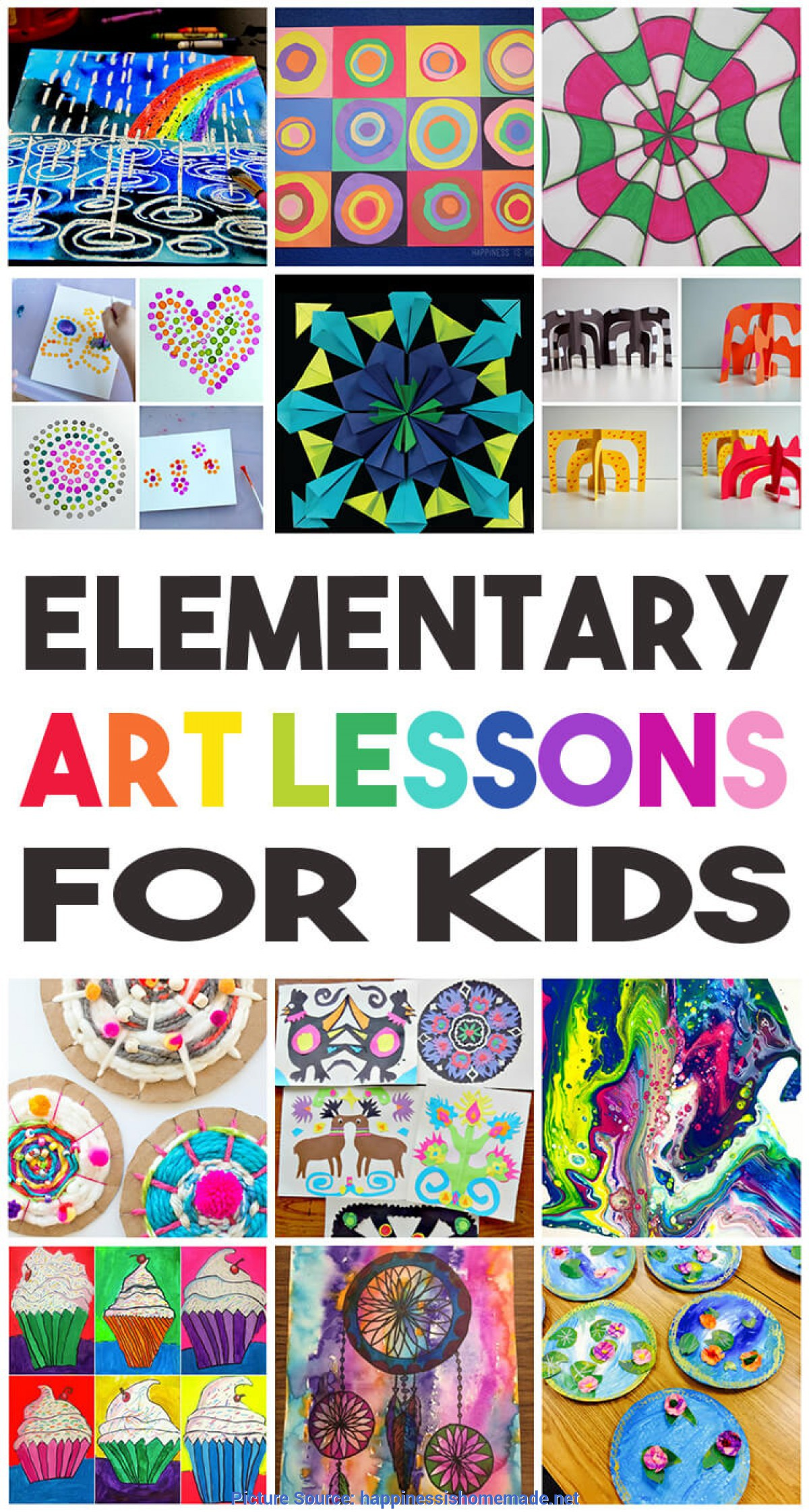 Excellent Elementary Art Ideas 36 Elementary Art Lessons For Kids - Happiness Is Home