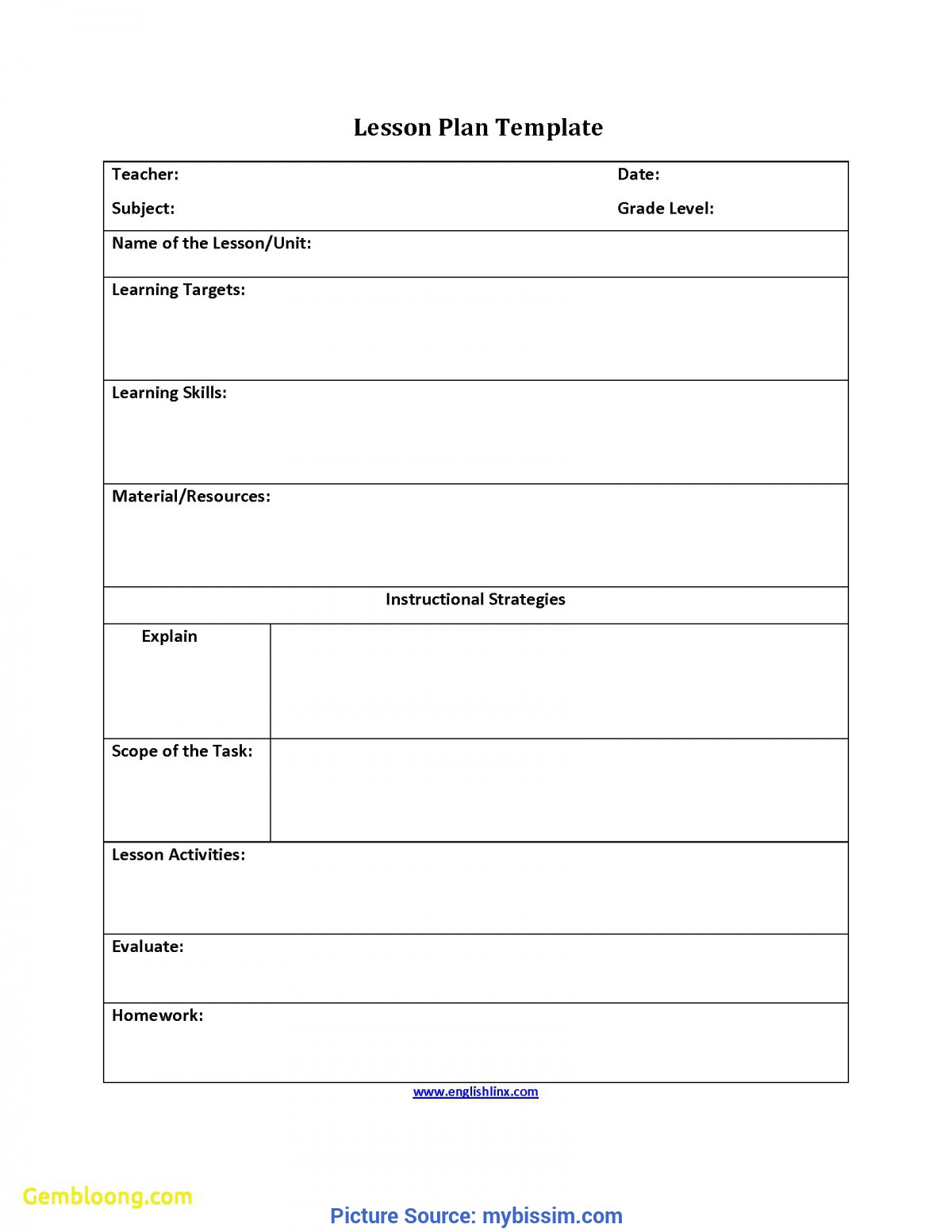 Excellent English Lesson Plan Sample Awesome Free Lesson Plan Template | Best Templ