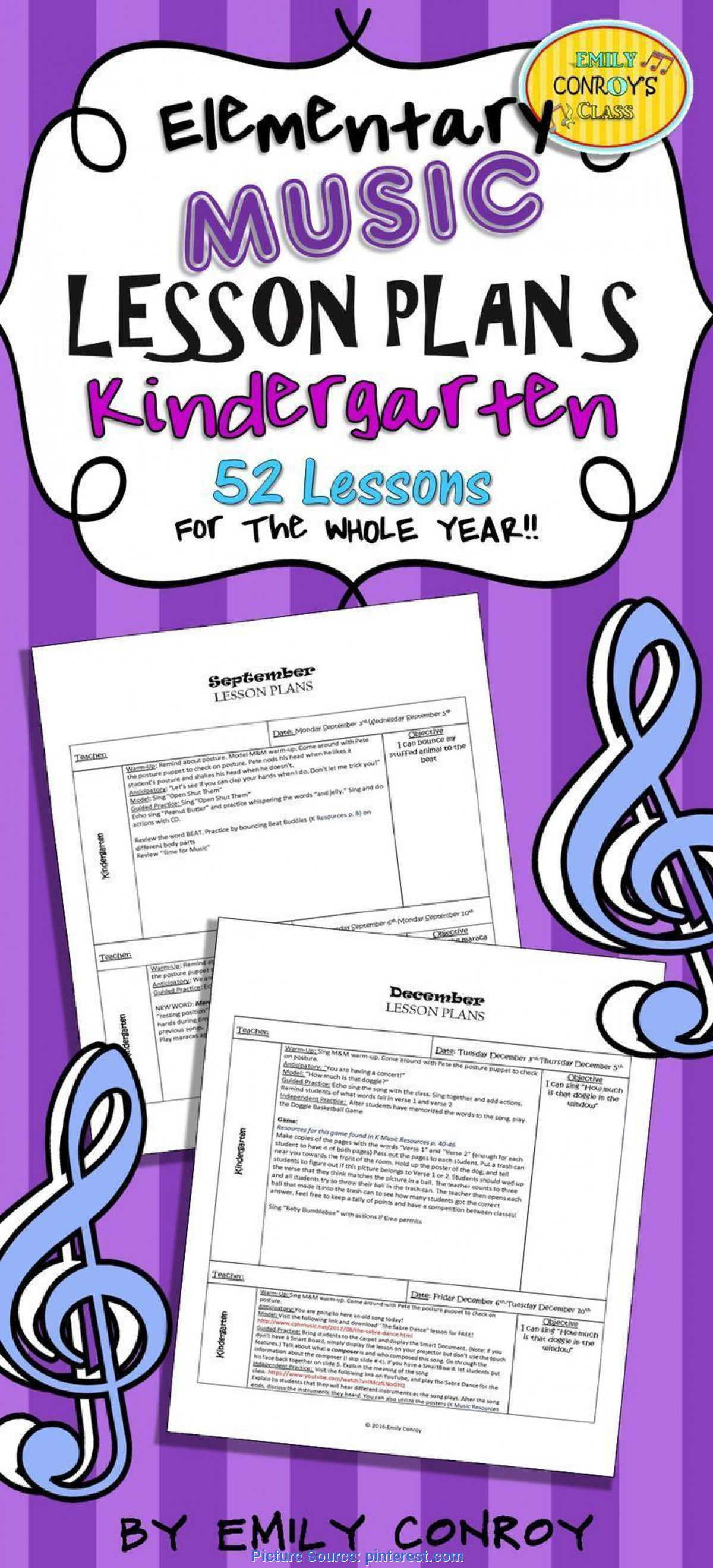 Excellent Kindergarten Lesson Plans For The Year Kindergarten Music Lesson Plans (Set #1) | Kindergarten Musi