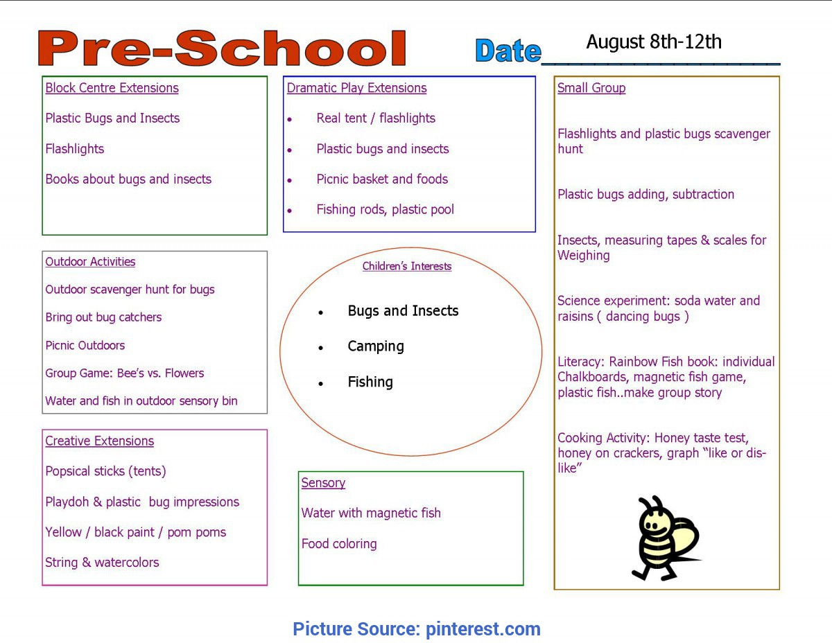 Excellent Nursery Activity Plan Template Toddler Curriculum Lesson Plans - Yahoo Image Search Result
