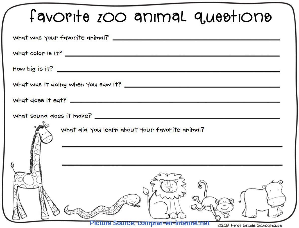 Excellent Zoo Lesson Plans 3Rd Grade Zoo Field Trip Worksheet Free Worksheets Library   Download An