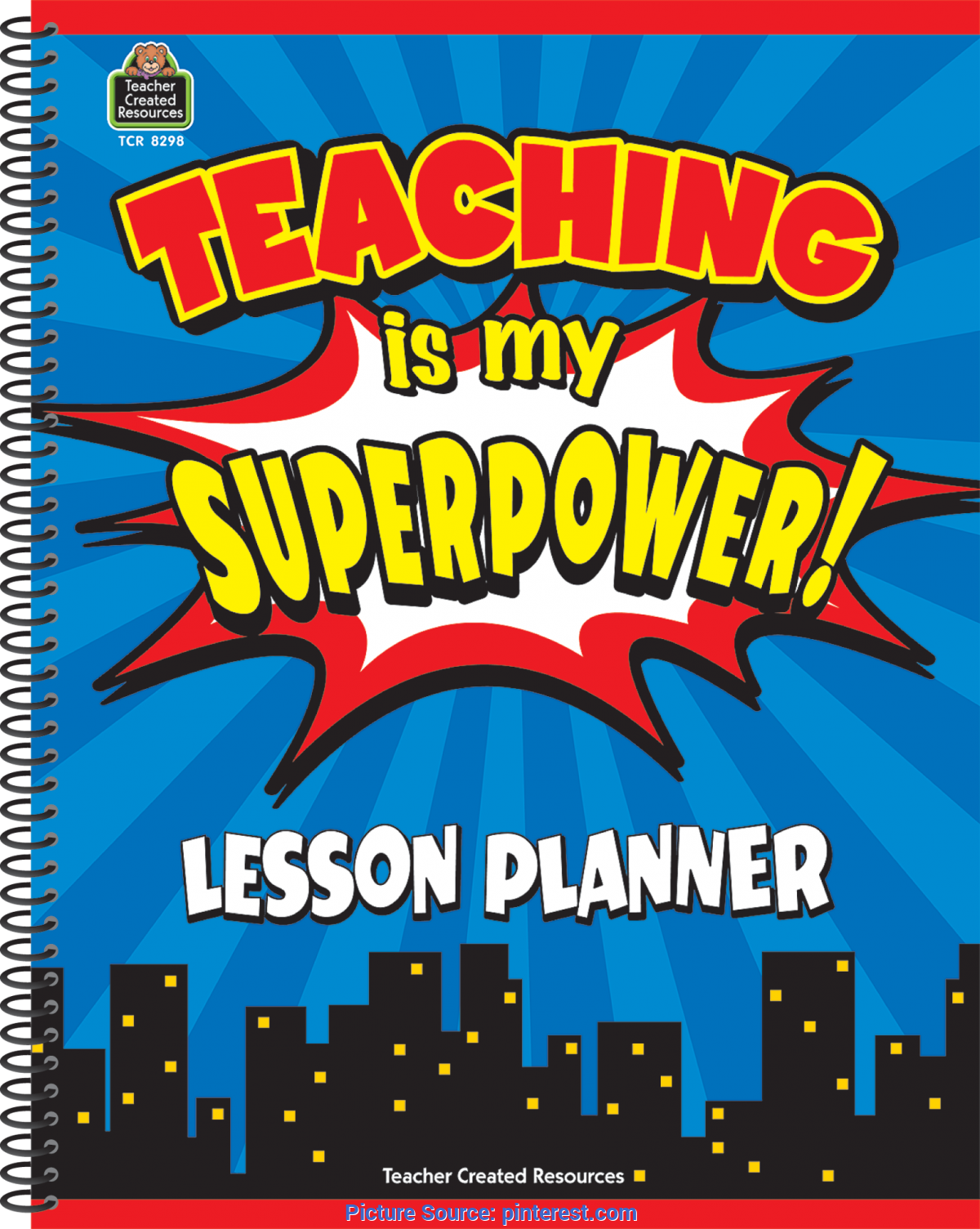 Fresh Teachers Daily Plan And Record Book Teaching Is My Superpower Lesson Planner   Substitute Teache