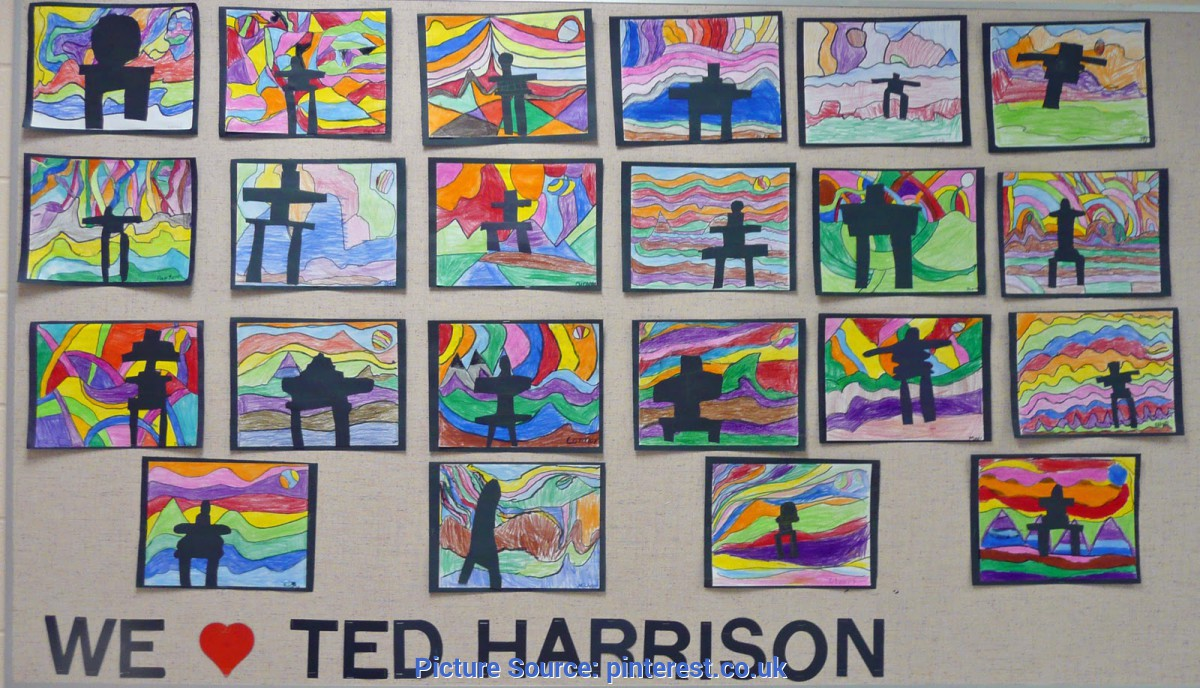 Good Art Activity For Grade 2 There Is A Lot Of Ted Harrison Love At The School These Days. Bot