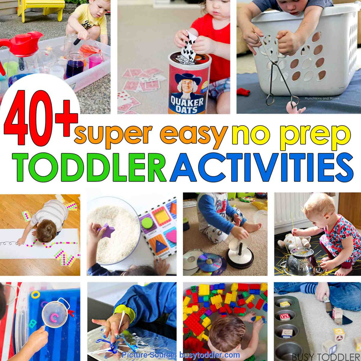 Good Easy Activities For Toddlers 40+ Super Easy Toddler Activities - Busy Tod