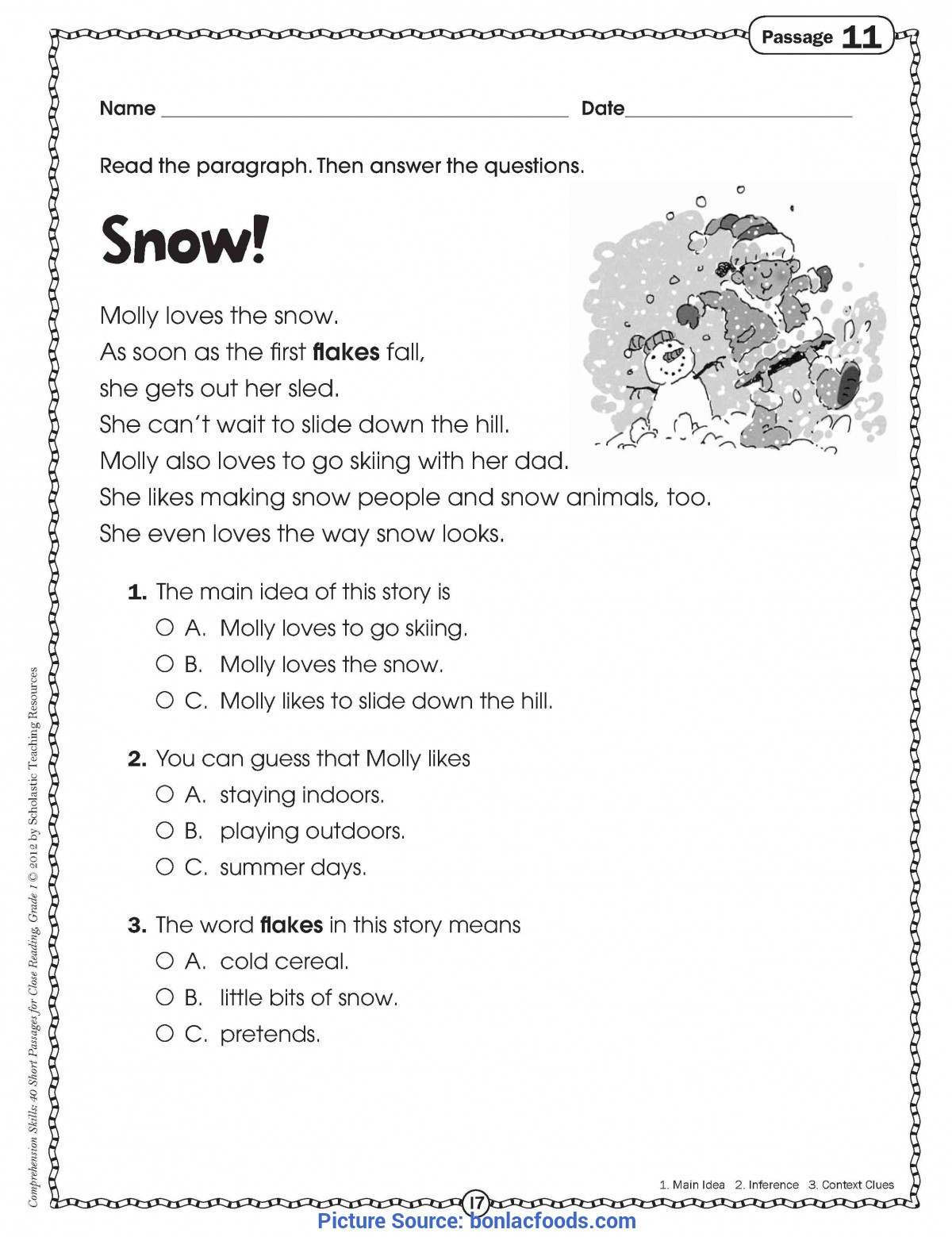 - Reading Comprehension Worksheets For 2nd Grade. Re - Ota Tech