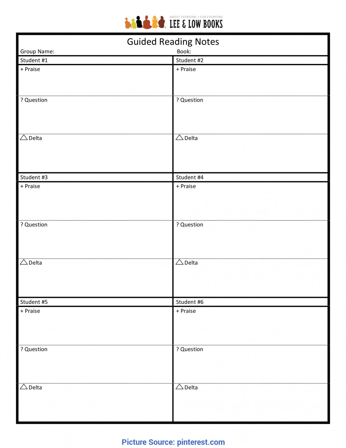 Good Guided Reading Format Guided Reading Notes Template | Common Core & Curriculu