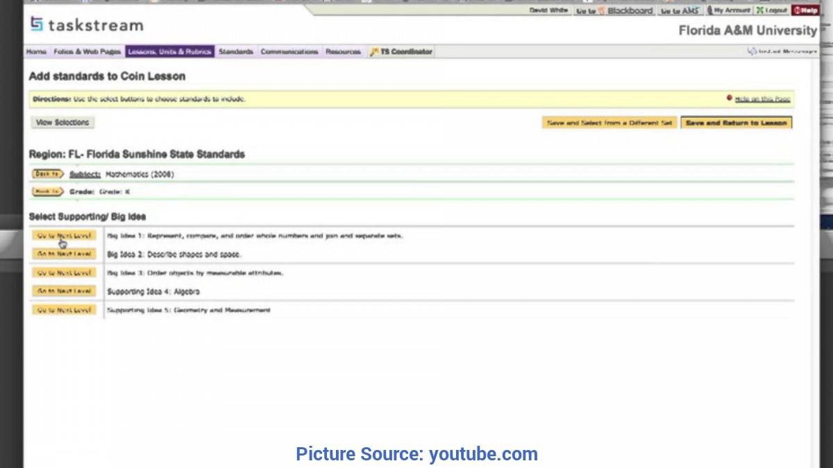 Good Lesson Plan Builder Making A Lesson Plan In Taskstream - You