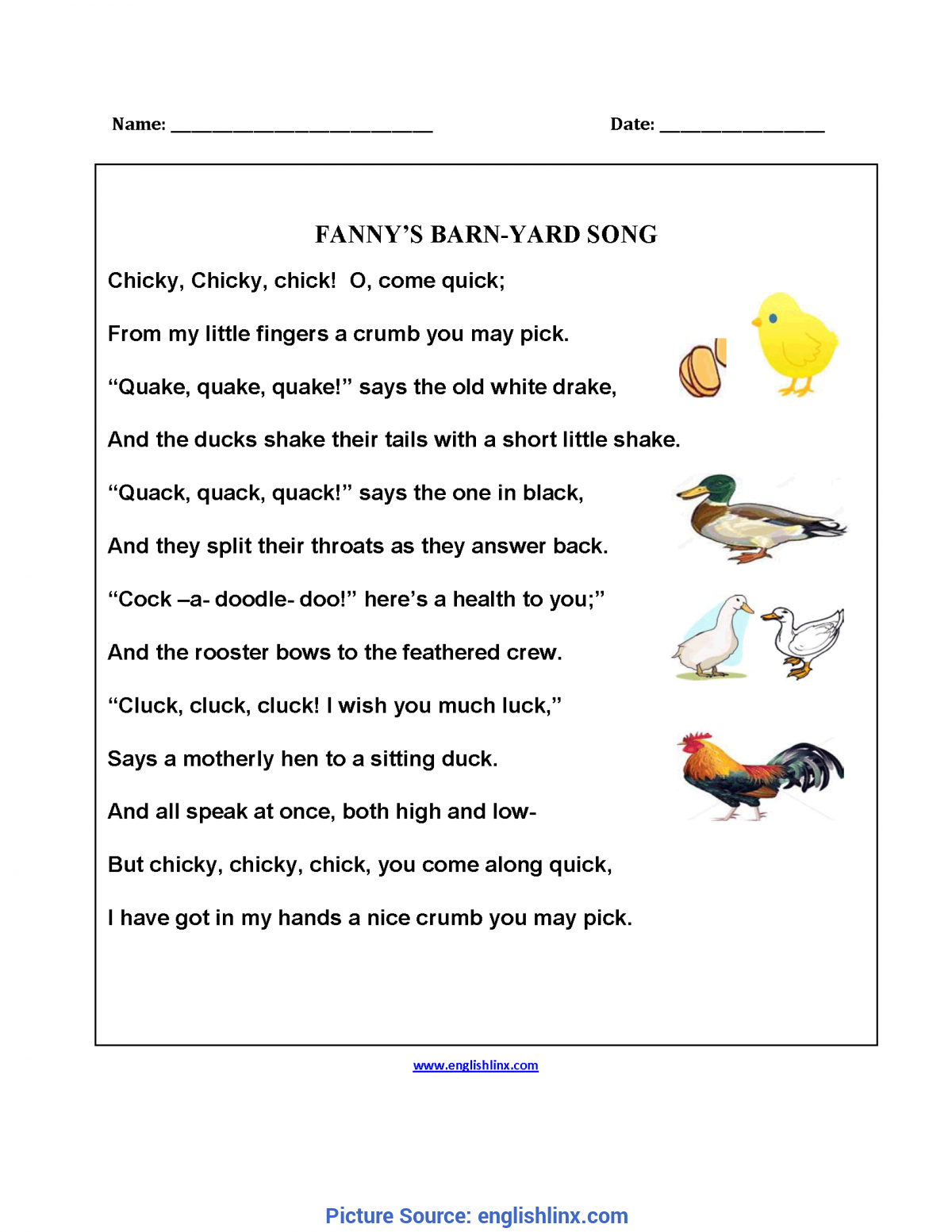 Good Reading Poetry Lesson Plans 5Th Grade Englishlinx.Com | Poetry Worksh