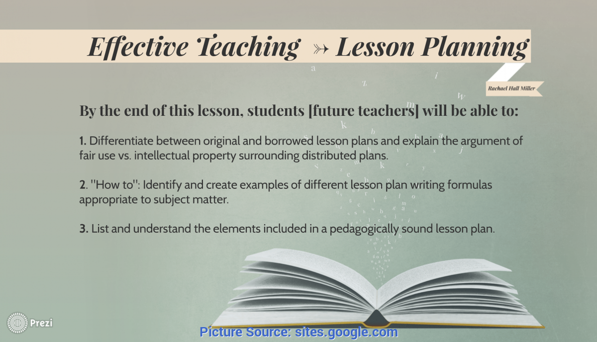 Good Teacher Objectives For Lesson Plans Lesson Planning By Rachael - Teaching & Learning In