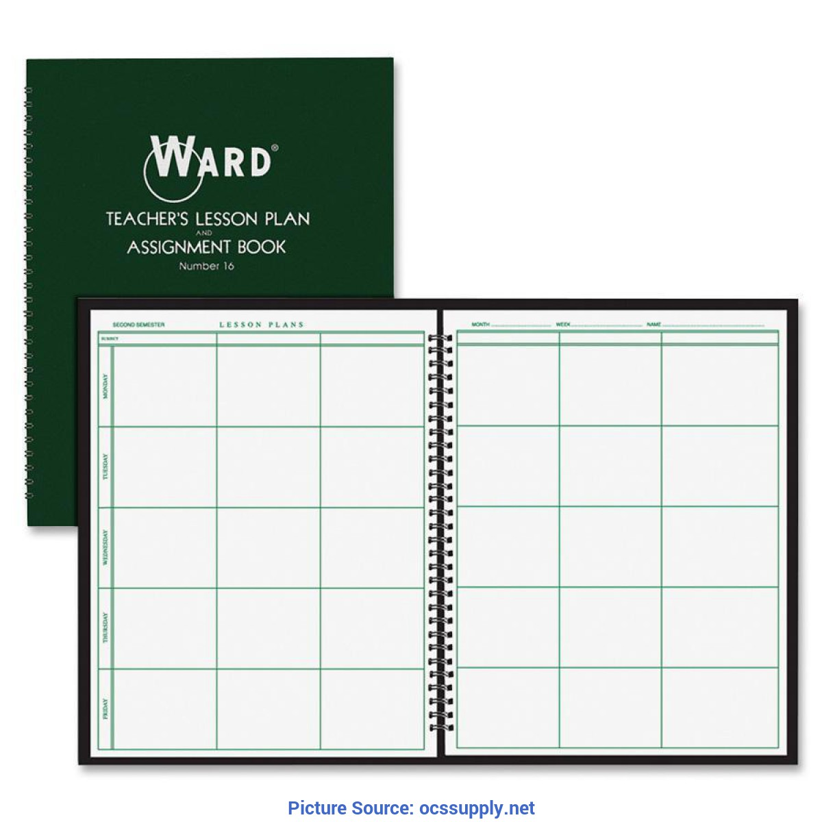 Good Ward 6 Period Lesson Plan Book Ward Hubbard Comp. Teacher'S 6-Period Lesson Plan Book - Offic