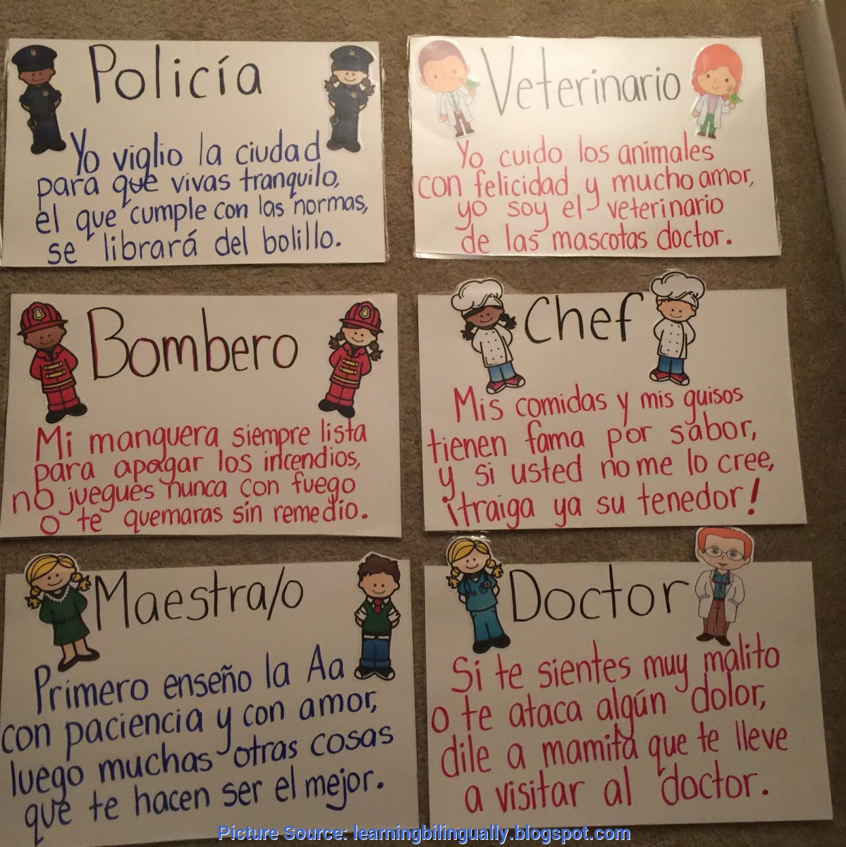 Great Community Helpers Definition Learning Bilingually: Community Helpers Unit In Spa