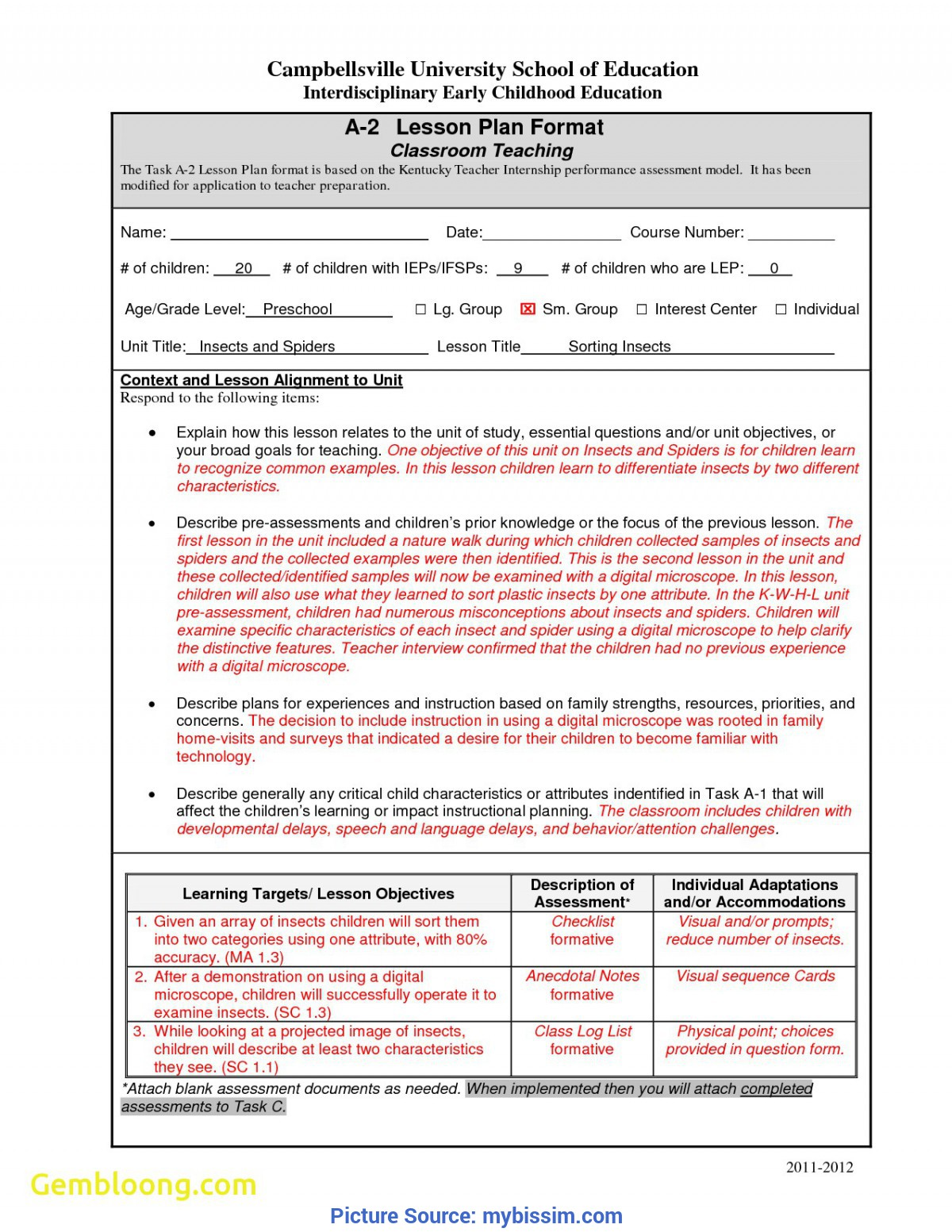 Great Edtpa Lesson Plan Template 2018 Luxury Unit Lesson Plan Template | Best Templ