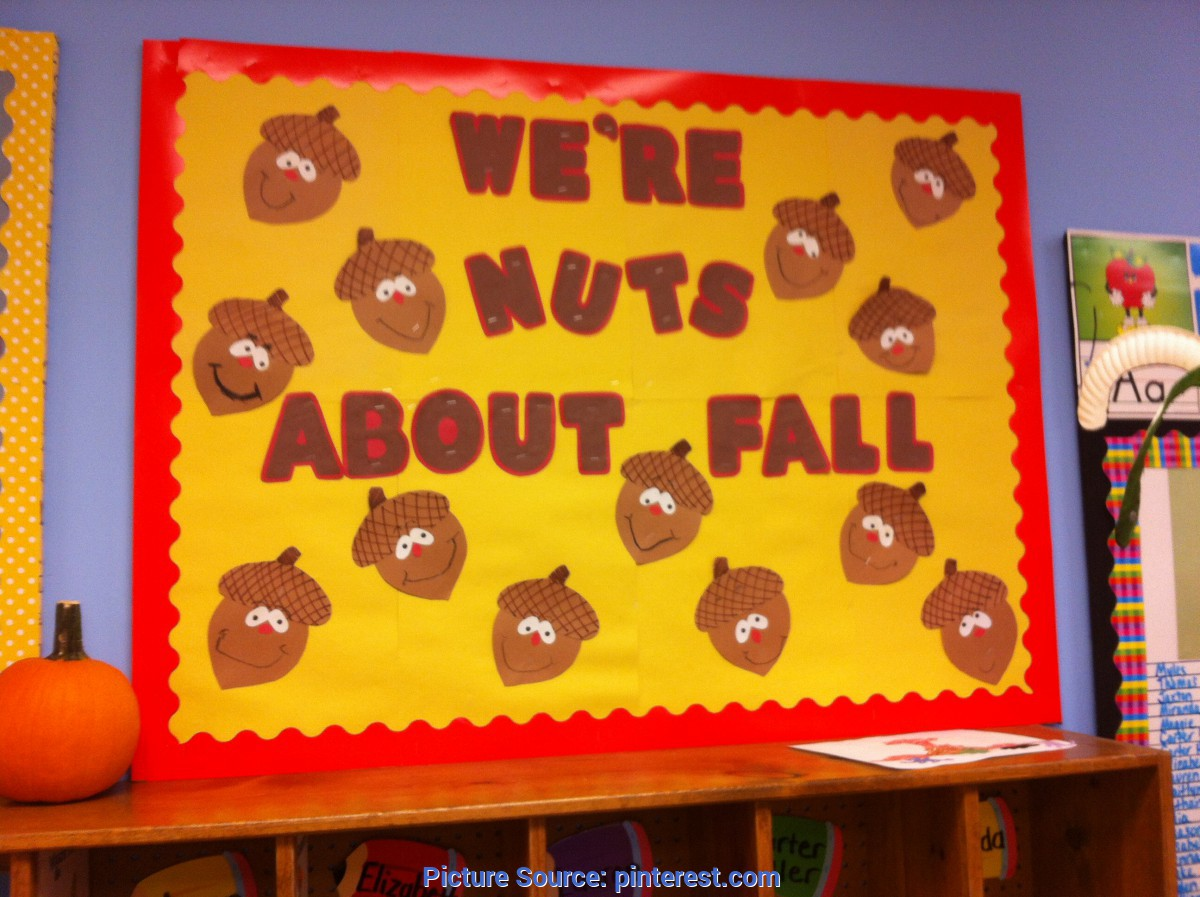 Great Fall Decorations For Daycare Fall Bulletin Board Acorns Nuts About Fall Pre K And Elementar Ota Tech