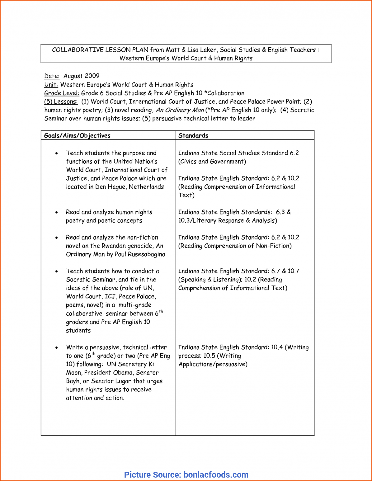 Great Grade 6 Lesson Plan Worksheets For All | Download And Share Worksheets | Free O