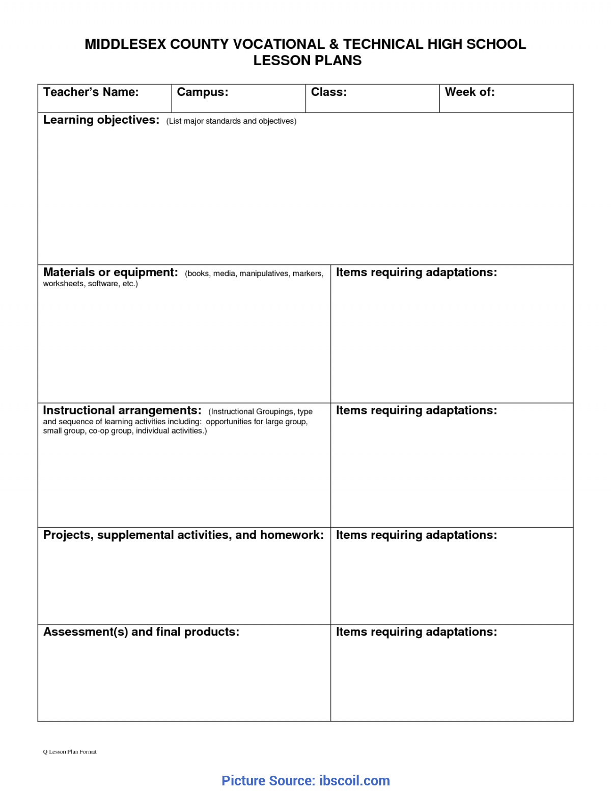 typical preschool lesson plan templates blank best photos of free