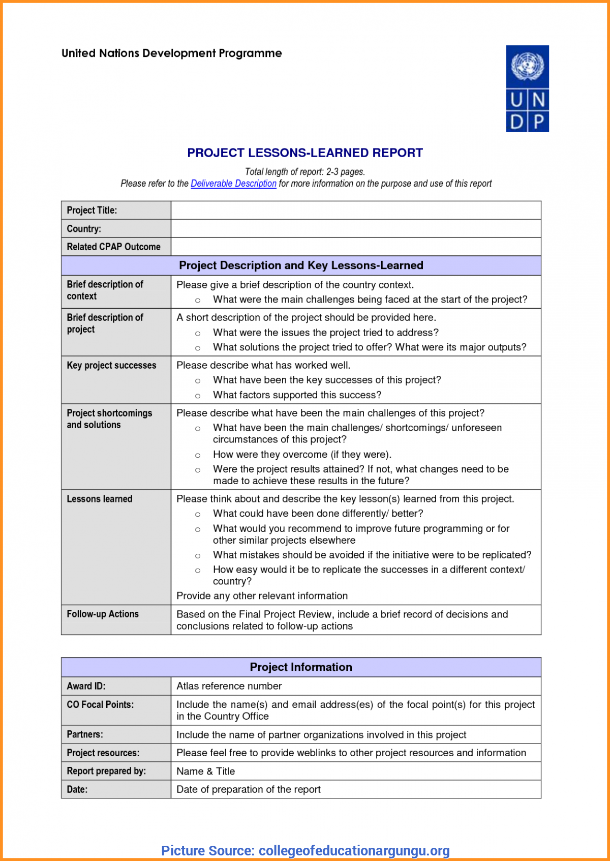 Lessons Learned Template | Great Hse Lessons Learned Template 23 Lessons Learnt Report Template