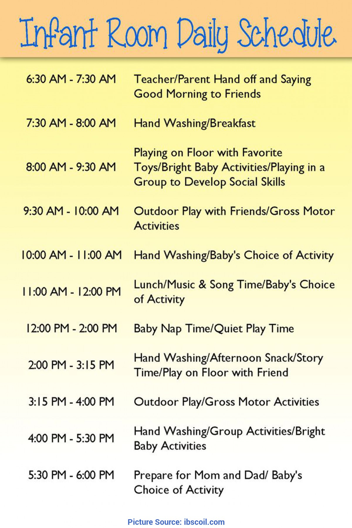 Great Infant Lesson Plan Ideas Best 25 Daycare Schedule