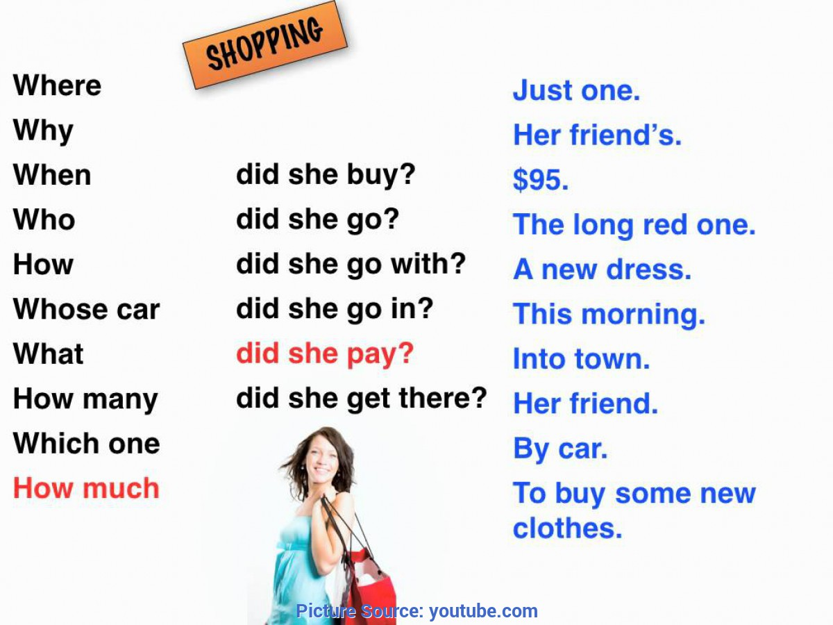 Great Shopping English Lesson English Lessons: Shopping (Past Simple Tense) - You