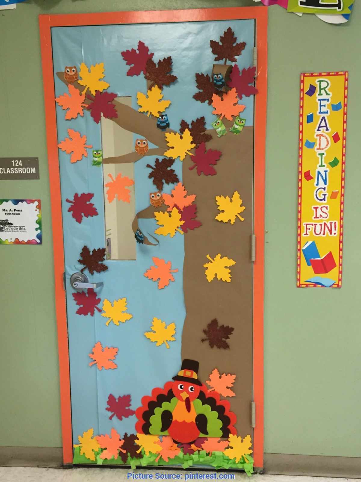 Interesting Fall Classroom Decorations Classroom Door Decoration Fall Decoración de Puerta Otoñ