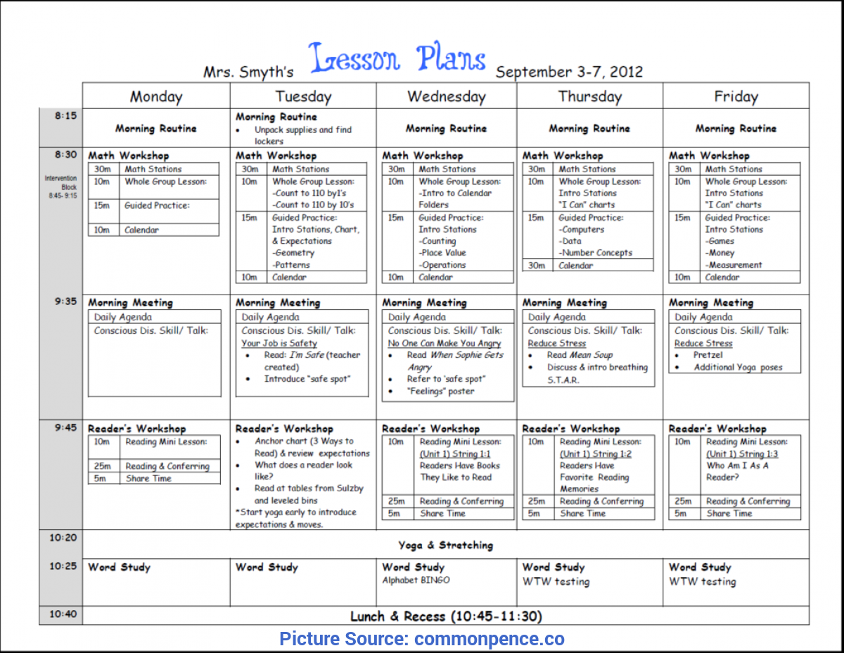 Interesting Lesson Plans For Three Year Olds Unit Plan Template For Teachers - Commonpenc