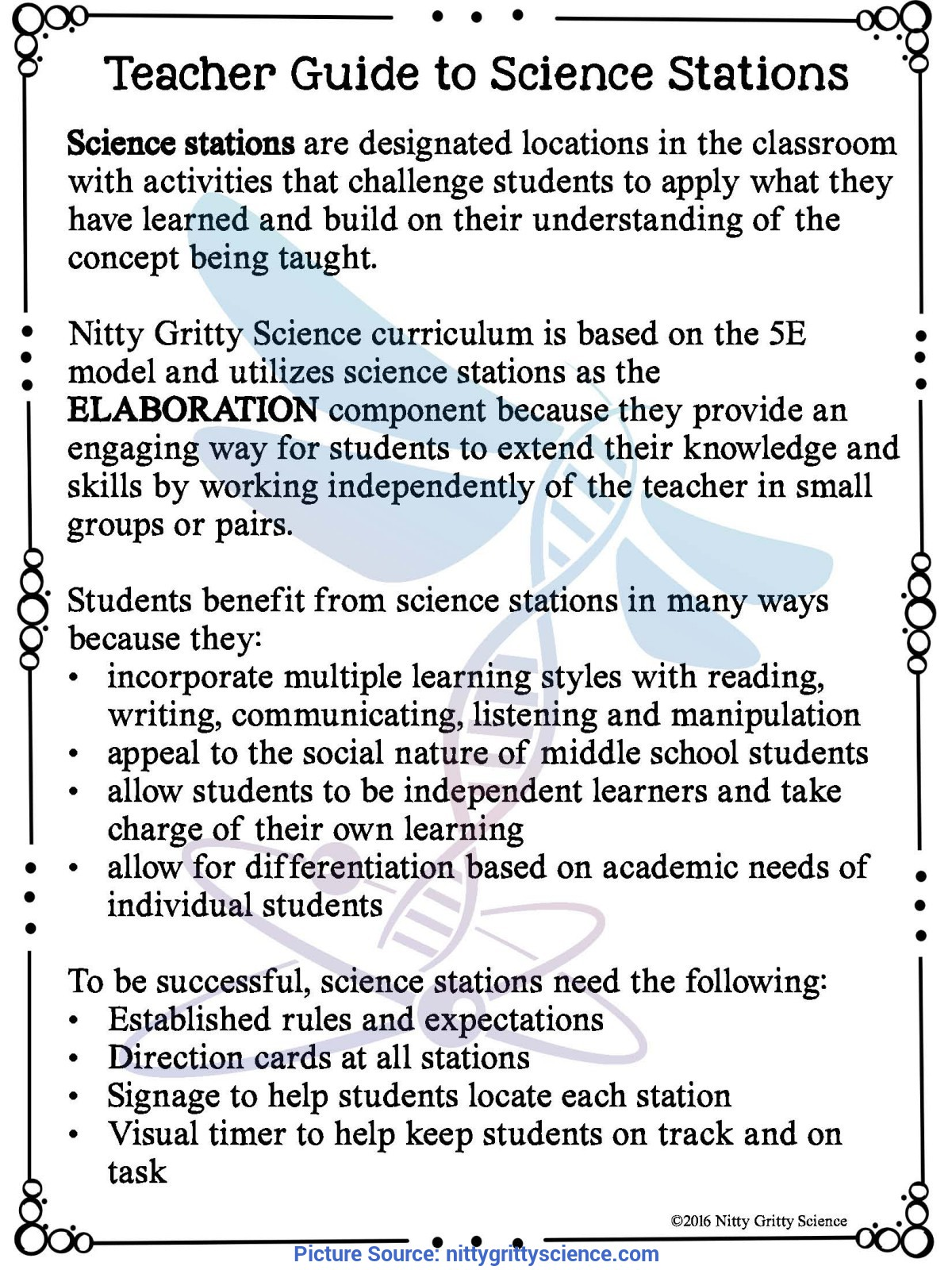 Newest 5E Model Science Nature Of Science €? Demo, Lab & Science Stations ~ 5E Inq
